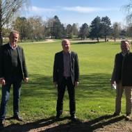 v.l.n.r.: und Jürgen Blum, Dr. Norbert Schäffer und Thomas Schreder